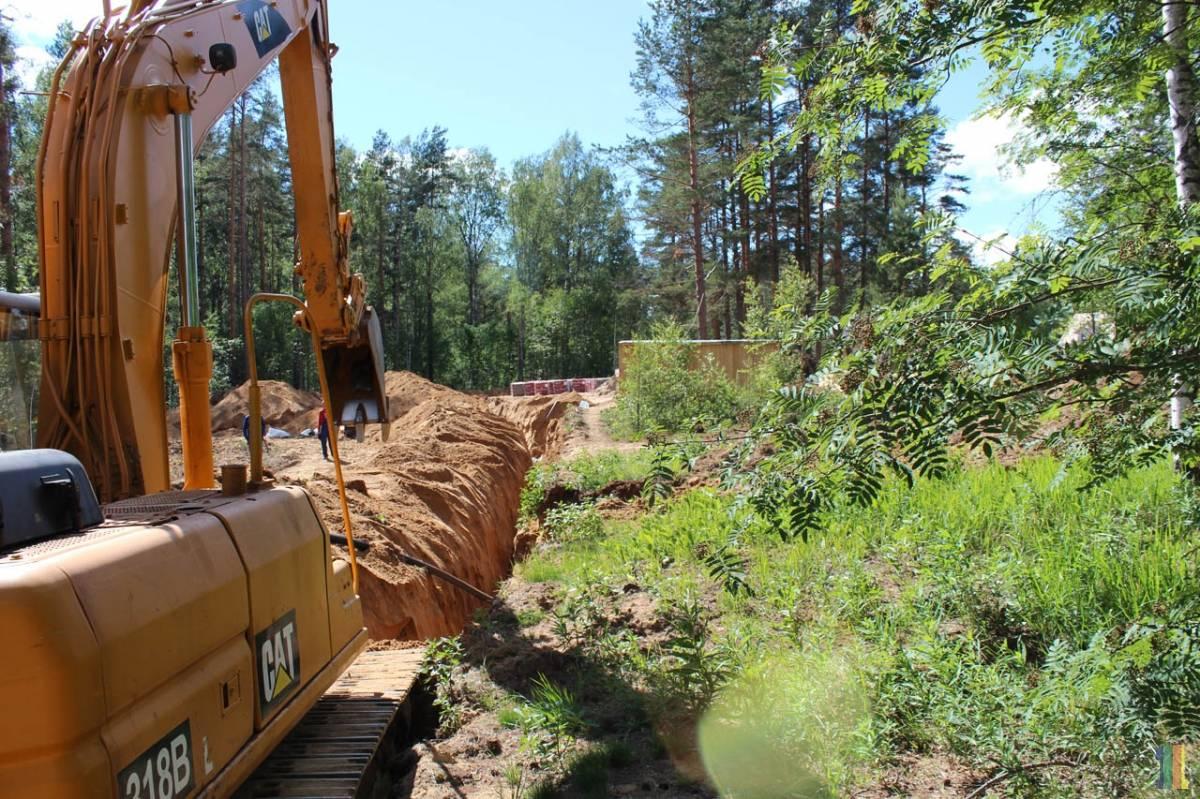 Строительство водопровода в 4-й очереди коттеджного поселка СОЛНЕЧНОЕ