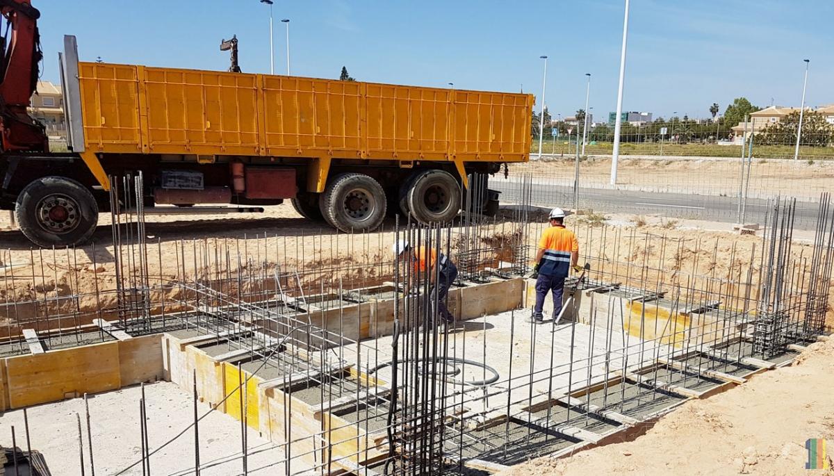 Строительство демо-дома в Испании.