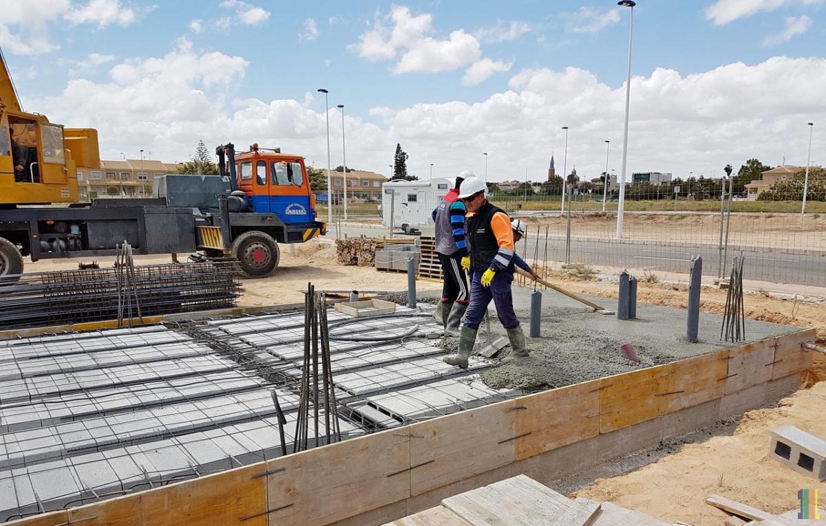 Этап строительства демо дома Abedul(Испания)