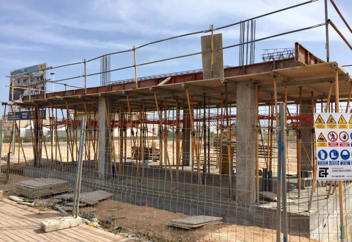 Подготовка под заливку перекрытия второго этажа демо-дома в жилом комплексе  Abedu