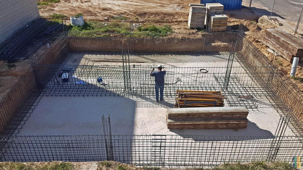Строительство фундамента дуплекса Abedul